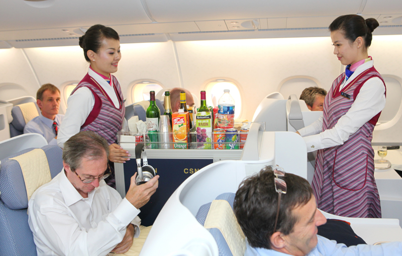 "customer service and cabin crew Flight attendant and blogger riina keinonen shares her insight on  in business  class, if they have paid extra for the services,"" keinonen clarifies  cabin crew  members are trained to deal with difficult customer situations."