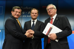 Jean-Claude Juncker, President of the EC participes in the European Council in the meeting with Turkey